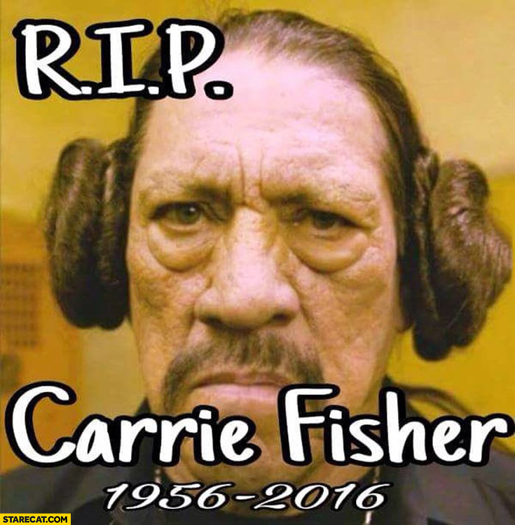 RIP Carrie Fisher Machete with Leia hair