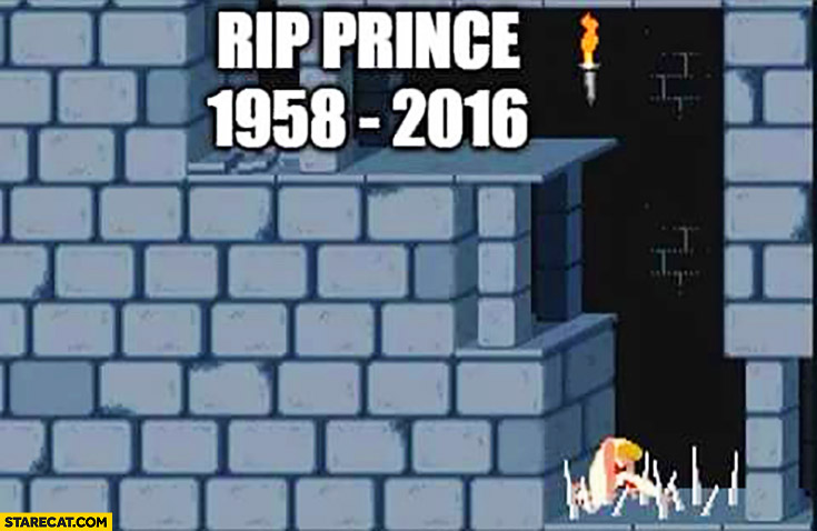 RIP Prince 1958-2016 Prince of Persia game