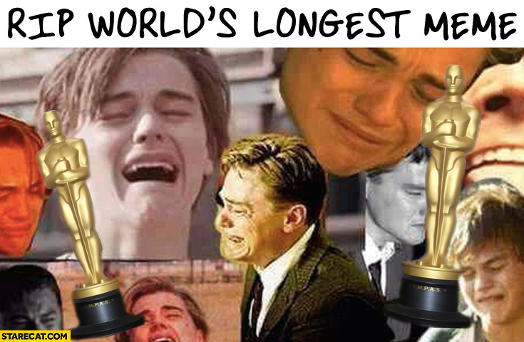 RIP the worlds longest meme 1993-2016 Leonardo DiCaprio without an oscar