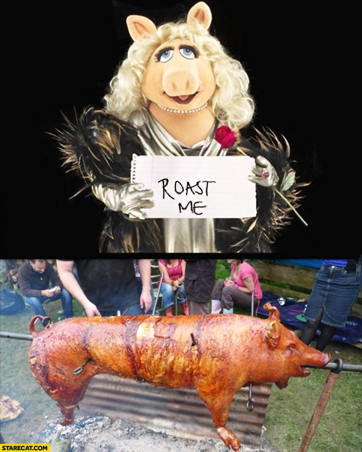 Roast me Piggy roasted pig literally