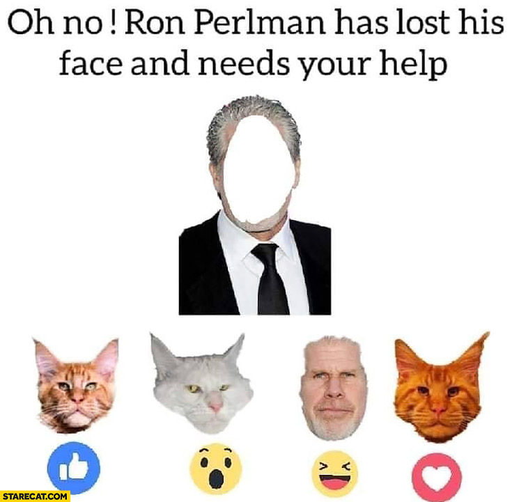 Ron Perlman has lost his face and needs your help