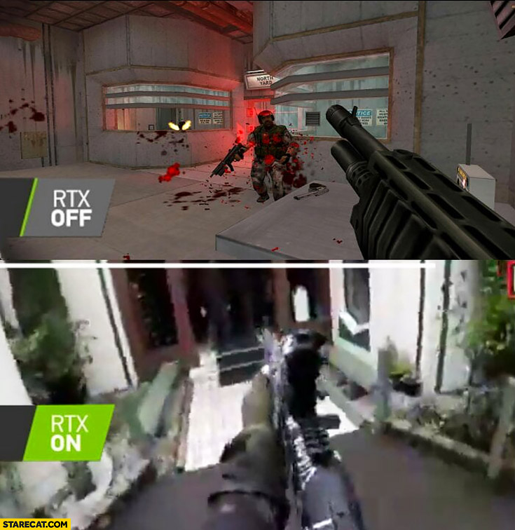 RTX off vs RTX on New Zeland Christchurch terrorist attack shooting comparison
