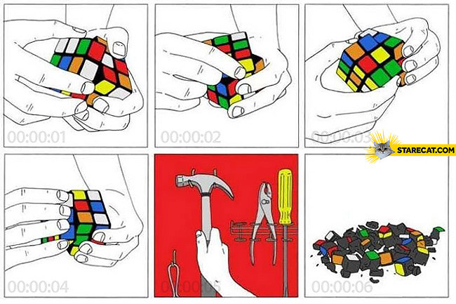 Rubik's cube in six seconds