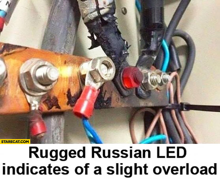 Rugged Russian LED indicates of a slight overload