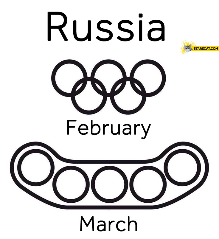 Russia february march Olympics logo