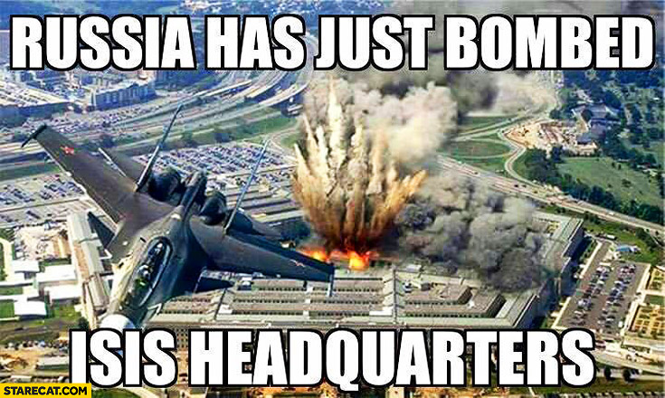 Russia has just bombed ISIS headquaters Pentagon USA