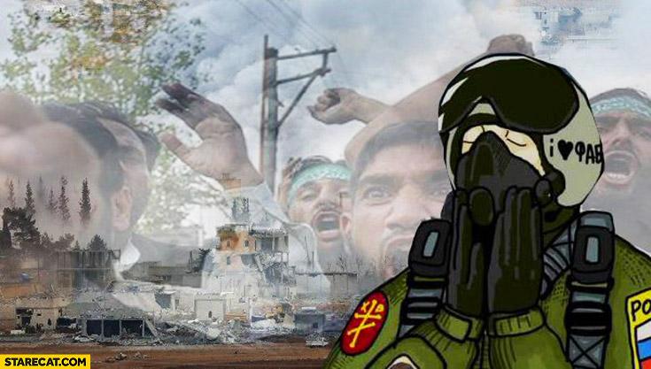 Russian jet pilot in Syria meme