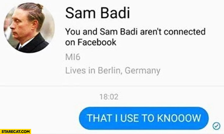 Sam Badi person on facebook that I used to know trolling