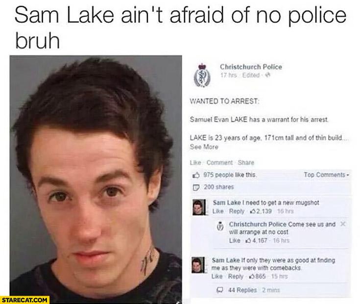 Sam Lake I need to get a new mugshot