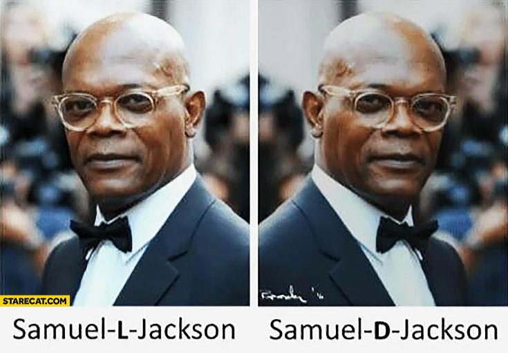 Samuel L Jackson, Samuel D Jackson comparison chemistry