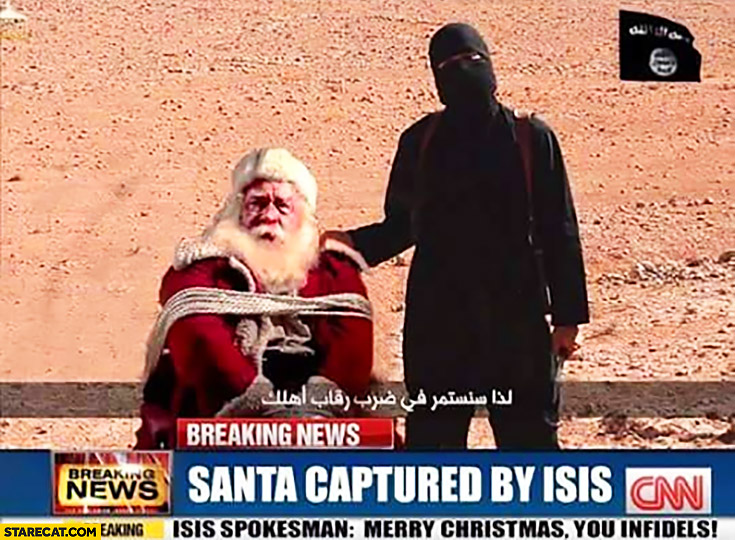 Santa captured by ISIS breaking news