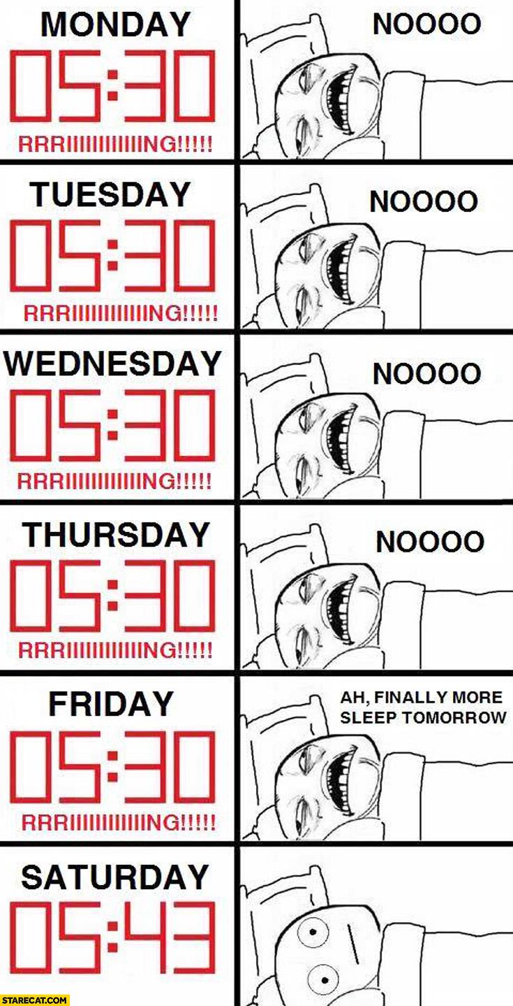 Saturday no alarm clock but still waking up as usual