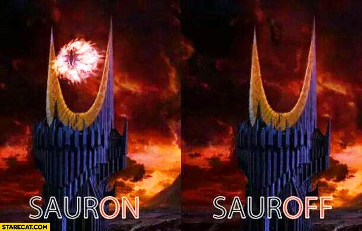 SaurON SaurOFF on off