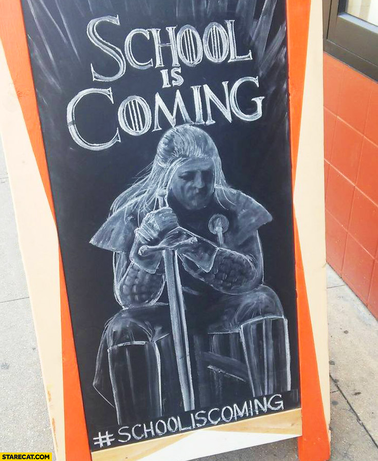 School is coming Game of Thrones
