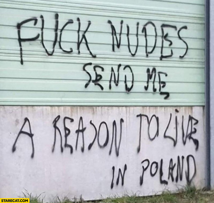 Screw nudes send me a reason to live in Poland