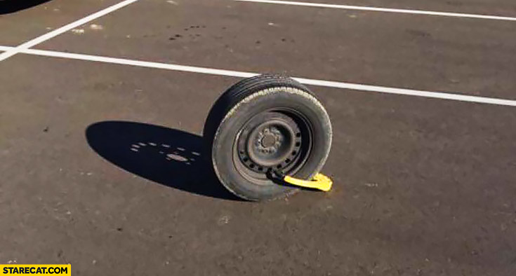 Secured tire but stolen rest of the car fail