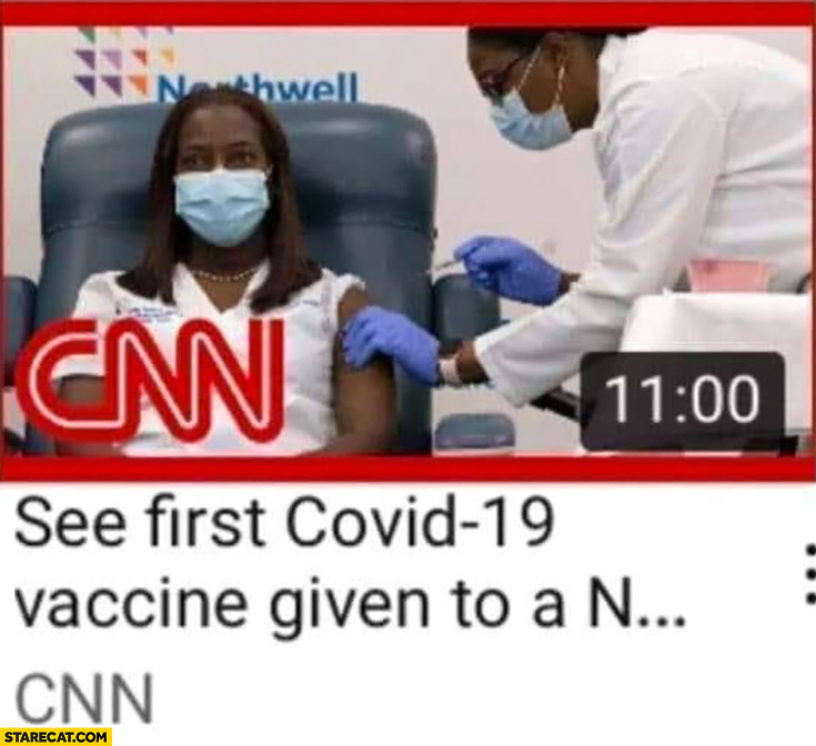 See first Covid-19 vaccine given to a N word black woman