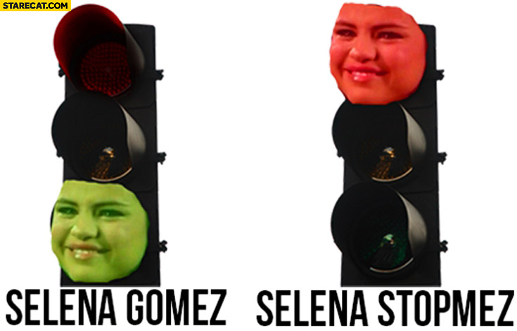 Selena Gomez, Selena Stopmez traffic lights