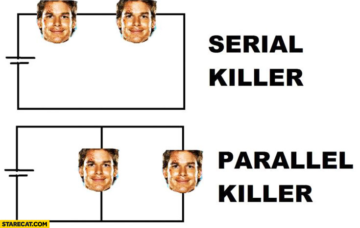 Serial killer, parallel killer Dexter
