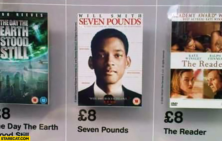 Seven Pounds movie priced 8 pounds