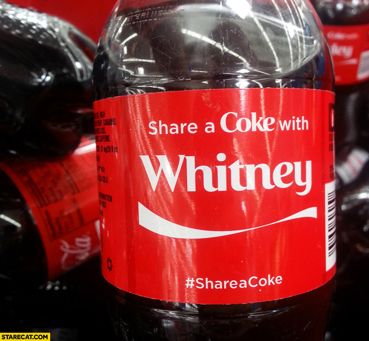 Share a coke with Whitney Houston cocaine