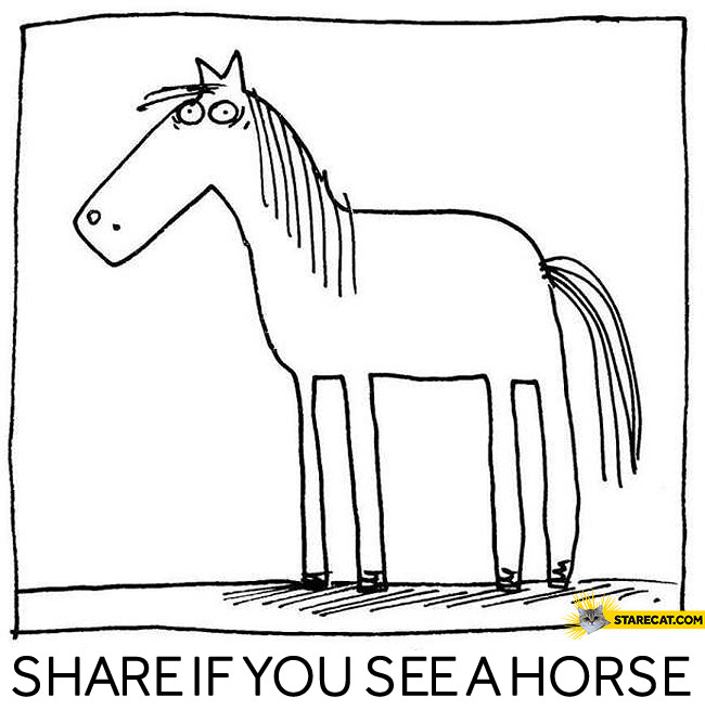 Share if you see a horse