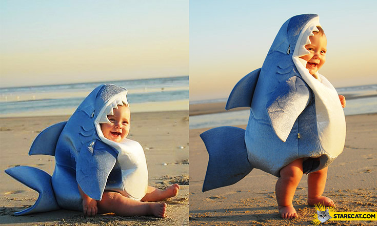 Shark kid costume
