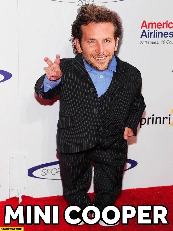 Short Bradley Cooper Mini Cooper