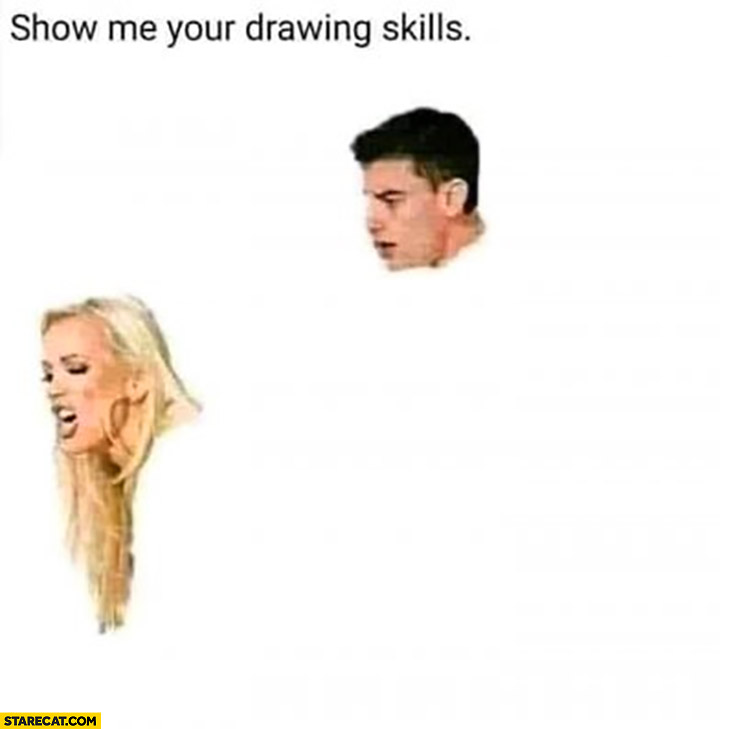 Show me your drawing skills adult movie only heads you draw the rest