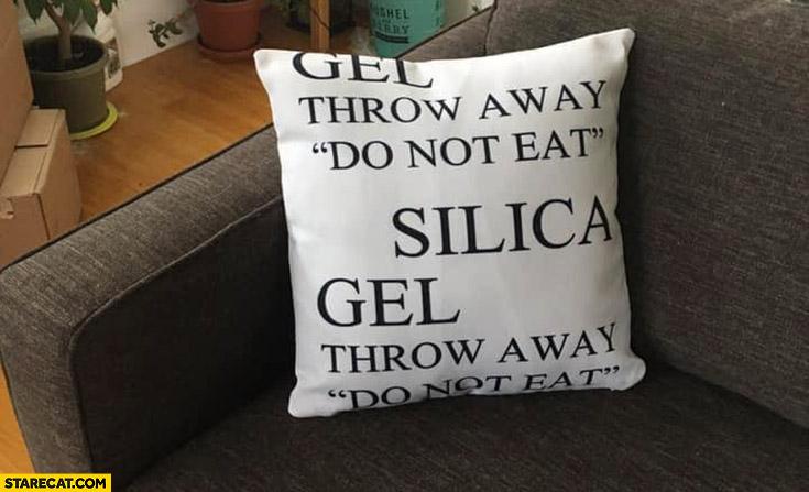 Silica gel pillow do not eat throw away