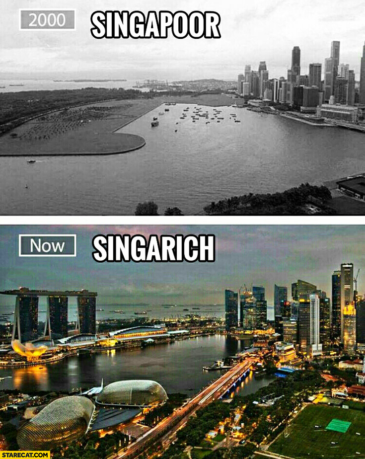 Singapoor year 2000, Now Singarich. Singapore