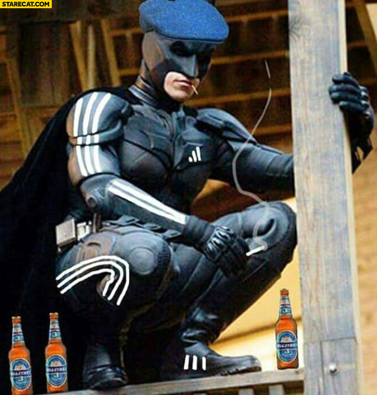 Slavic Batman Adidas stripes beers hat