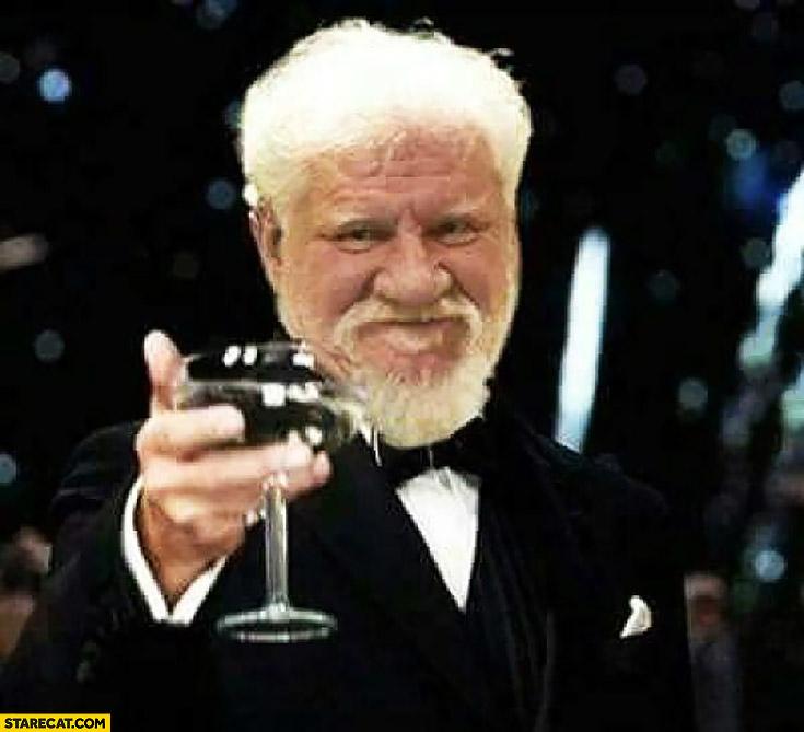 Slobodan Praljak toast photoshopped Leonardo DiCaprio