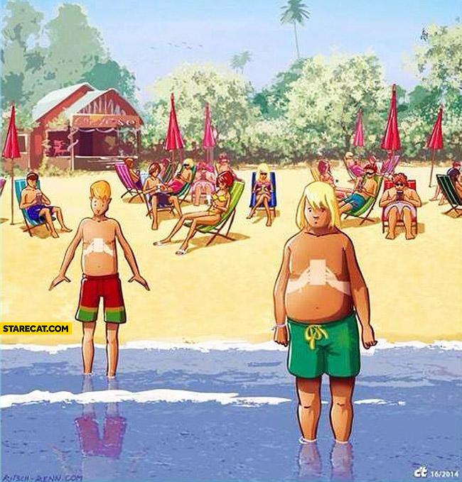 Smartphone tan