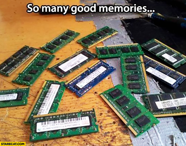 So many good memories. RAM modules