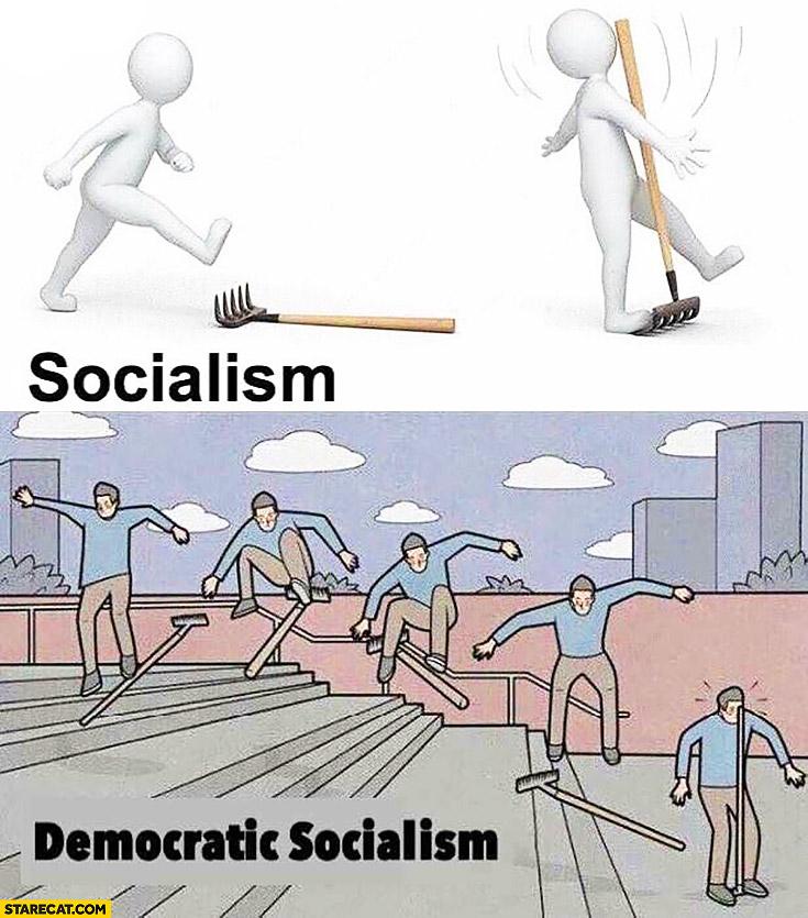 Socialism vs democratic socialism rake fail