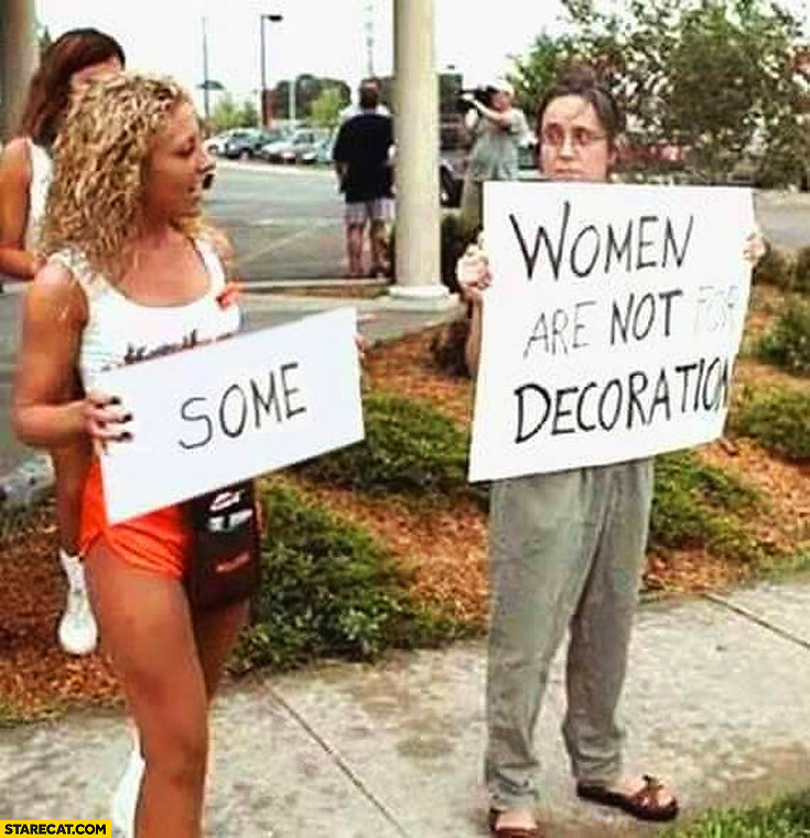 Some women are not for decoration protest fail