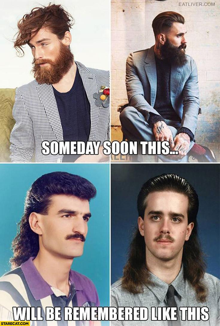 Someday soon this beard lumbersexual will be remembered like this oldschool long hair