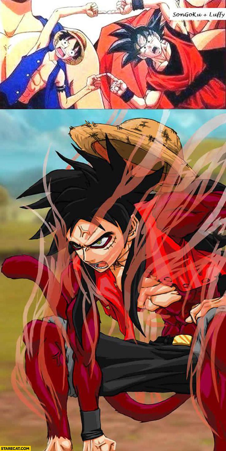 Son Goku Luffy mixed up