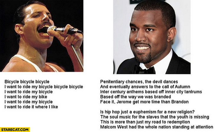 Songs now and then Freddie Mercury Kanye West
