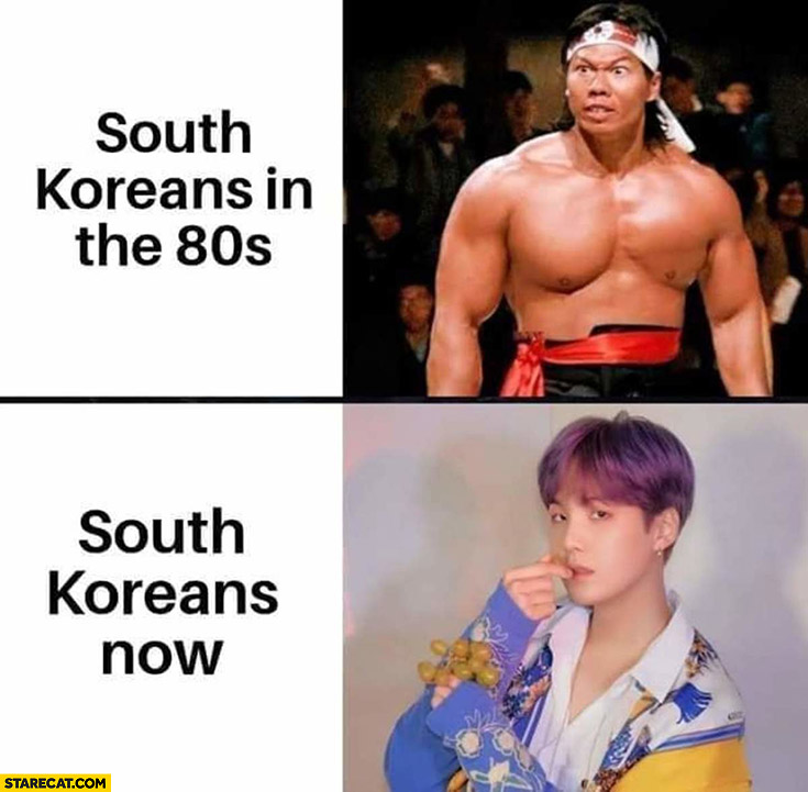South Koreans in the 80s vs South Koreans now comparison
