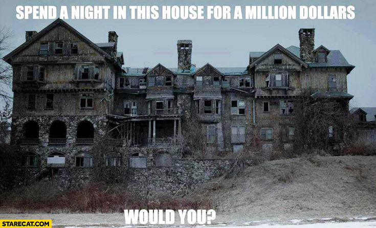 Spend a night in this house for a million dollars. Would you?