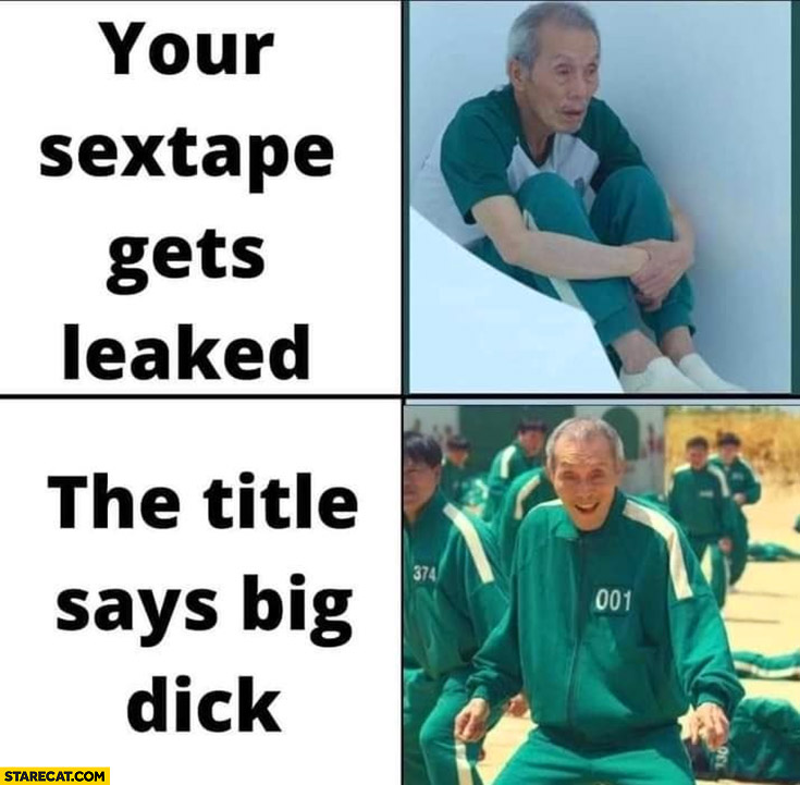 Squid game your tape gets leaked but the title says big dick