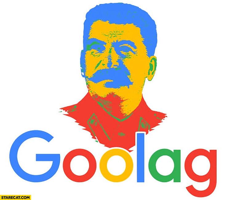 Stalin Goolag Google logo redesigned