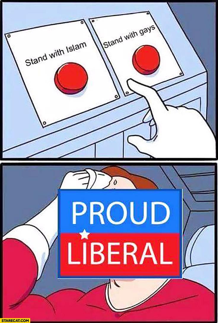 Stand with islam vs stand with gays, Proud Liberal dilemma