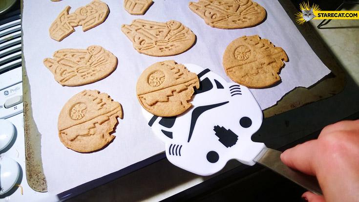 Star Wars cookies Falcon Millenium Death Star