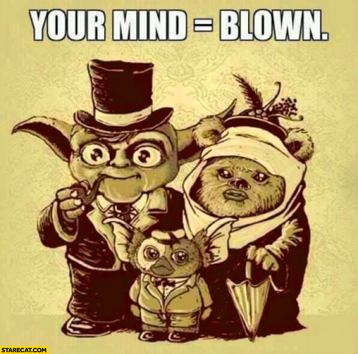 Star Wars Ewoks Yoda family your mind = blown