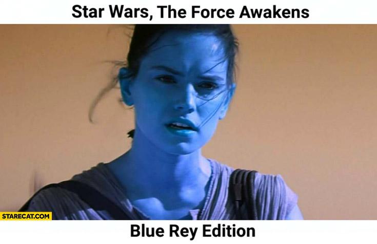 star wars force awakens blue rey edition