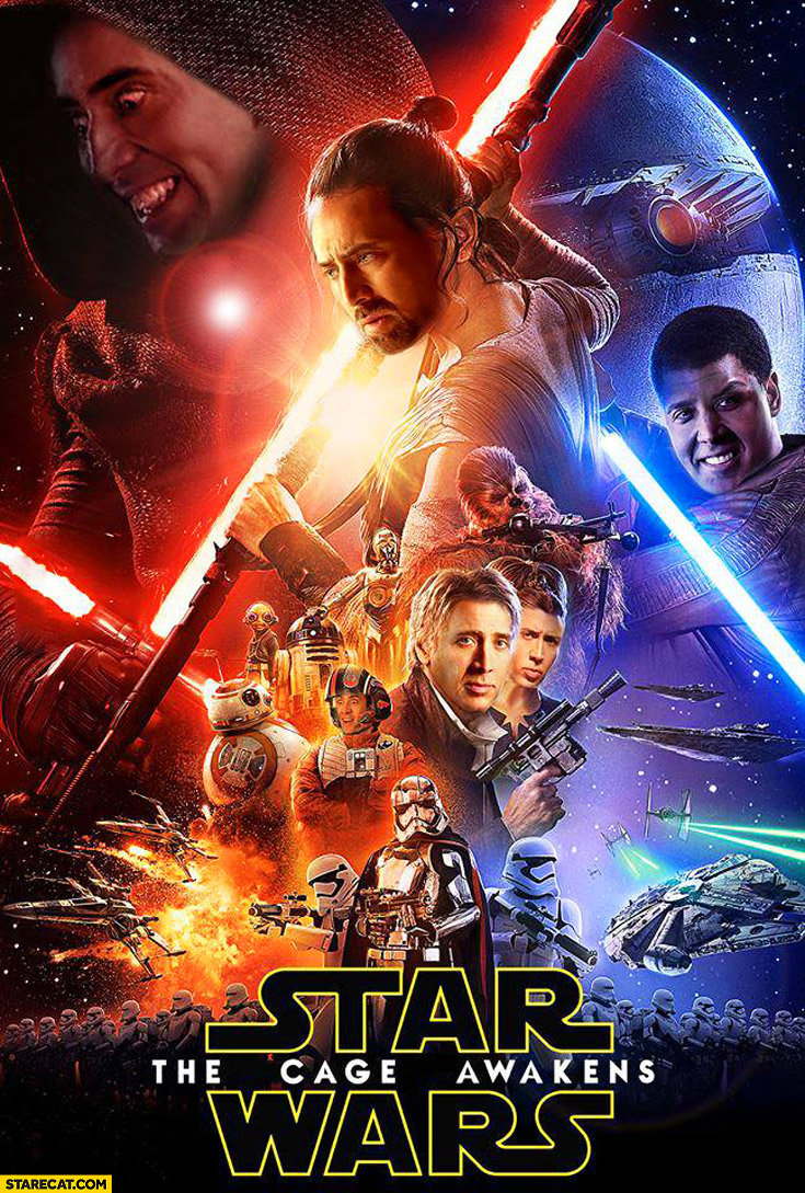 Star Wars The Cage Awakens Nicolas Cage poster