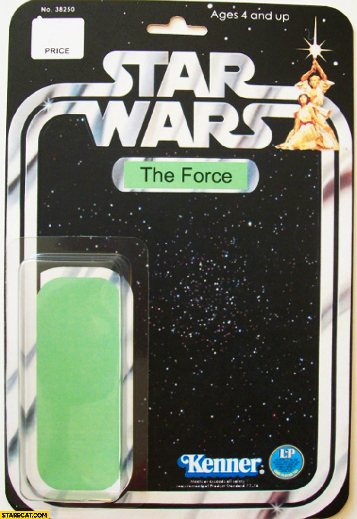 Star Wars toy the force green stripe